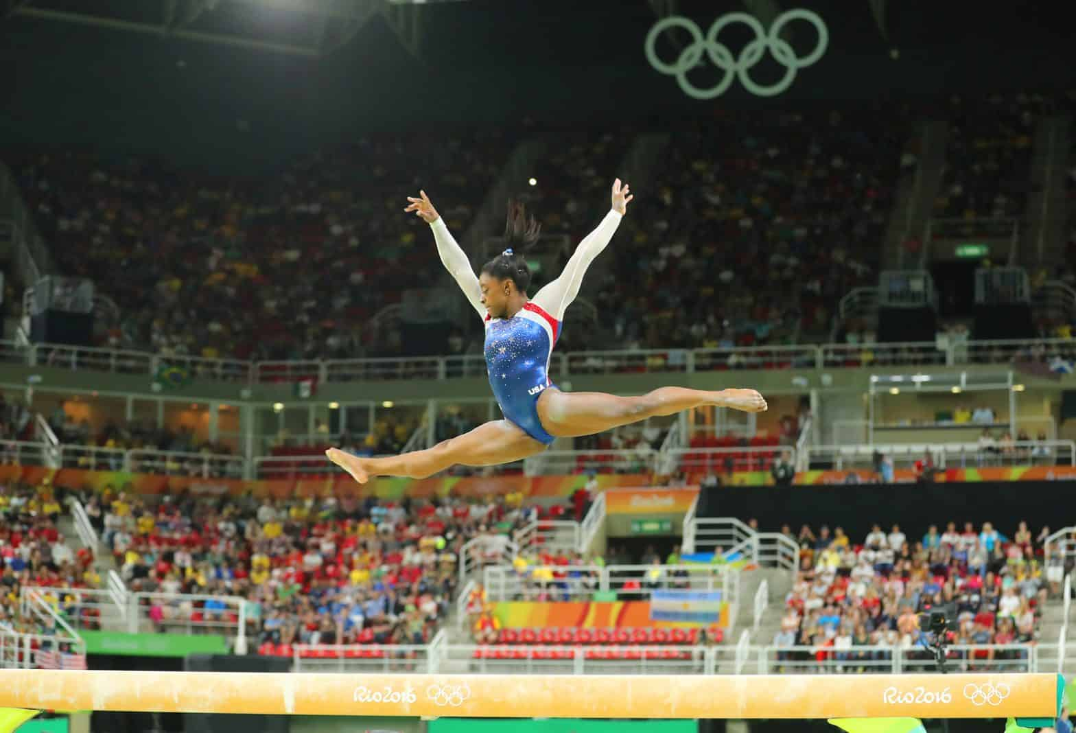 Gymnast Simone Biles was 19 years old at the Rio Olympics